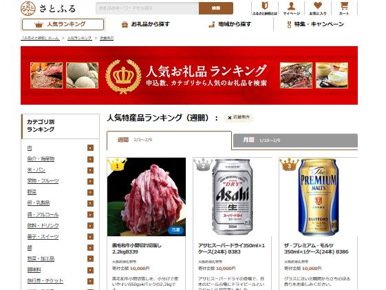 ふるさと納税 都道府県別ランキング 西日本版 さとふる